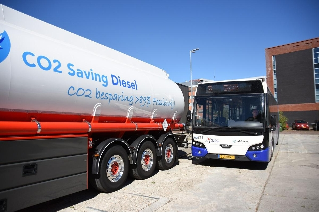 elfwegentocht CO2 Saving Diesel 100
